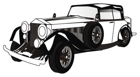 black and white car Banco de Imagens