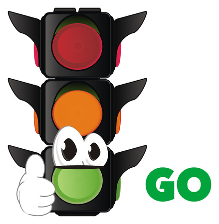 funny traffic light Stockfoto