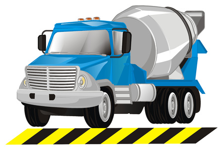 cement truck and stripped line