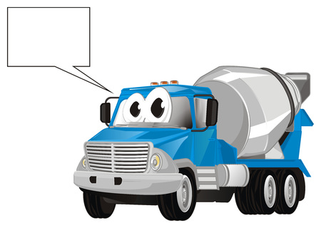 funny cement truck and footnote