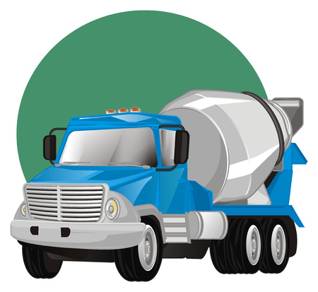 cement truck and sign