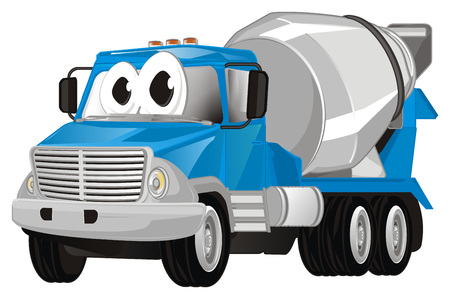 funny cement truck