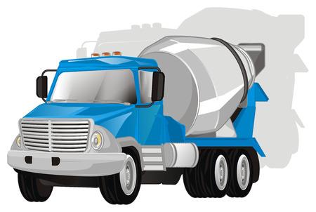 cement truck and shadow Banco de Imagens