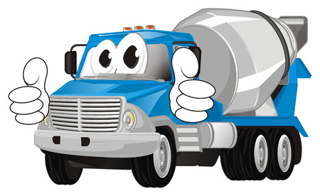 funny cement truck show gesture class