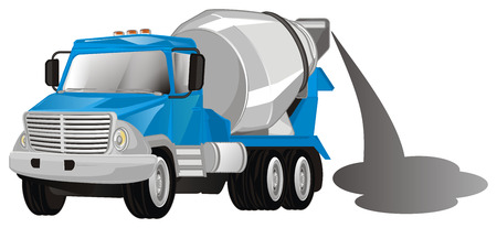 cement truck with cement
