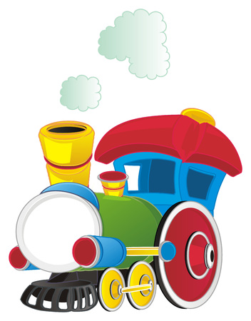 colored toy train
