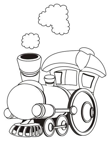 coloring toy train Banco de Imagens