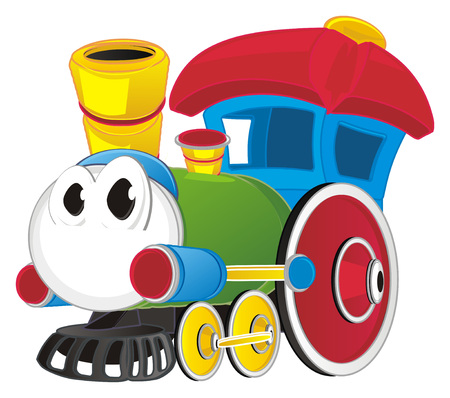 toy train with eyes