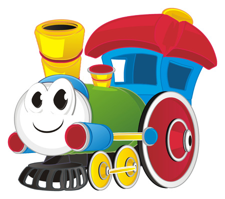 smiling toy train Banco de Imagens