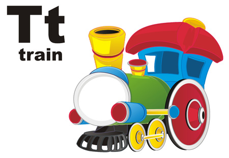 toy train and abc