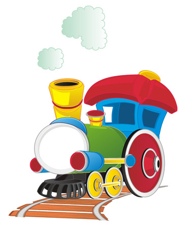 toy train on road