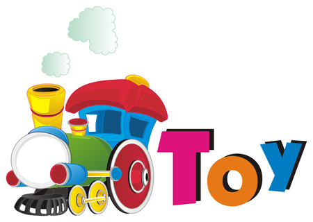 toy train and letters