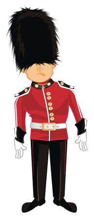 sad guardsman stand Stock Photo