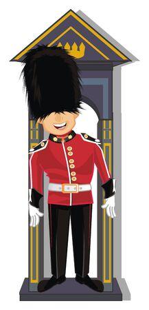 guardsman at work Stock Photo