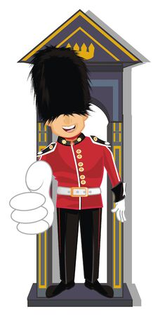 guardsman at word show gesture class Stock Photo