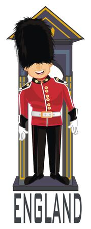 happy English guardsman Banco de Imagens