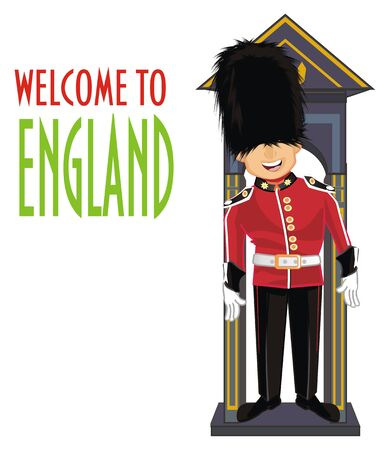 guardsman say welcome to England Banco de Imagens