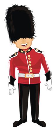 smiling guardsman stand