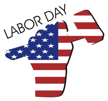 labor day and flag of USA Banco de Imagens