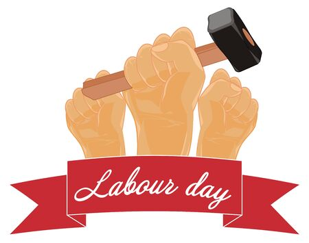 labor day and hands