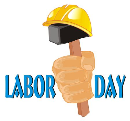 happy labor day and symbols