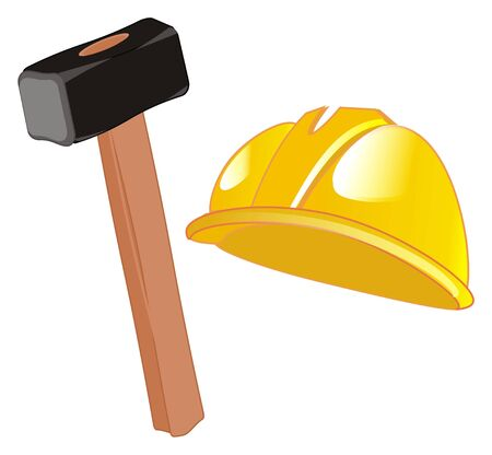 helmet with hammer