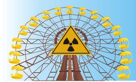 ferris wheel of Chernobyl in sign