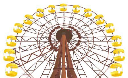 broken ferris wheel of Chernobyl Stock Photo