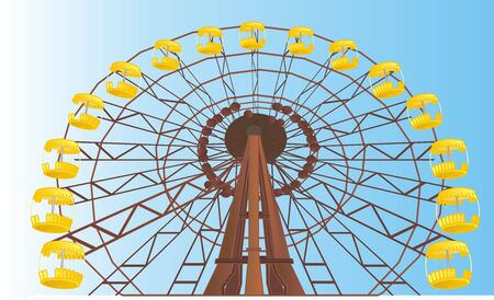 ferris wheel of Chernobyl Stock Photo