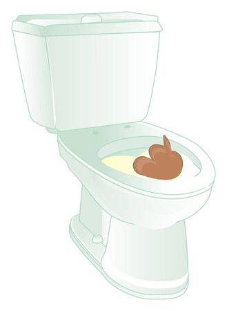 toilet with poop and feces