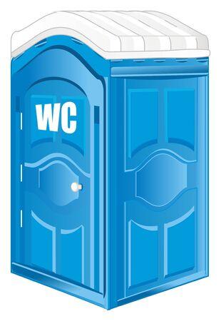blue bio toilet is WC
