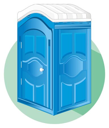 blue bio toilet on icon Stock Photo