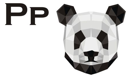 papercraft head of panda Banque d'images