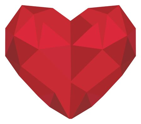 papercraft red heart