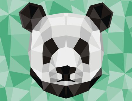 papercraft head of panda Stock Photo