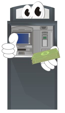 funny ATM hold cash