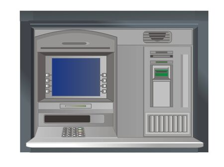 screen of ATM Stock Photo