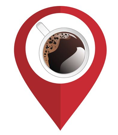 coffee and geolocation Stock Photo