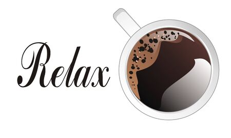 relax with coffee Stock Photo