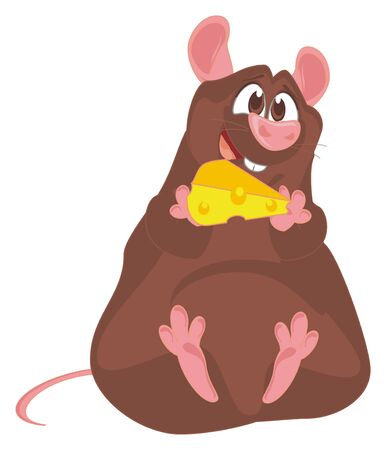 mouse hold a cheese Imagens