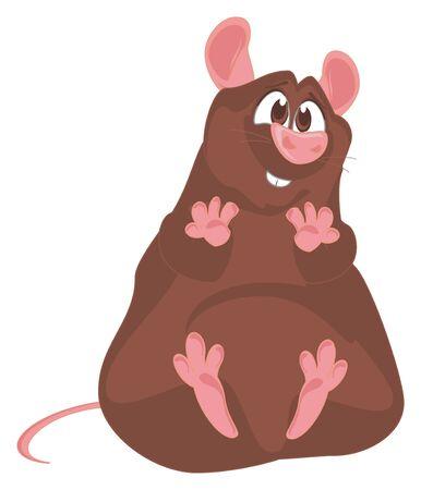 funny brown rat