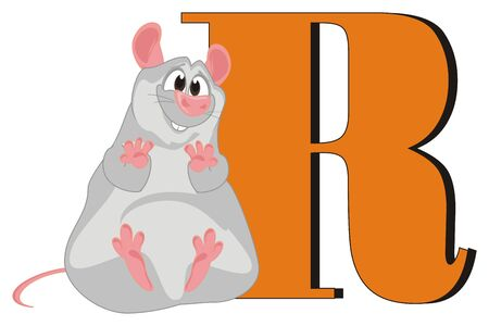 rat and letter r