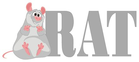 rat with letters Imagens