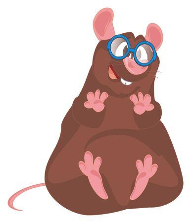 rat in glasses Archivio Fotografico - 129161908