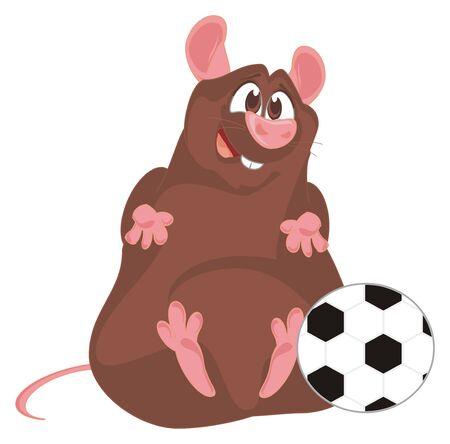 rat play to football Imagens