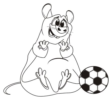 coloring rat with a ball