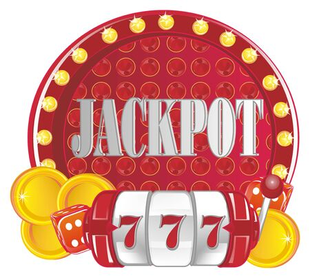 symbols of casino and jackpot
