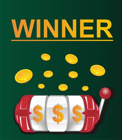 winner and slot game Фото со стока