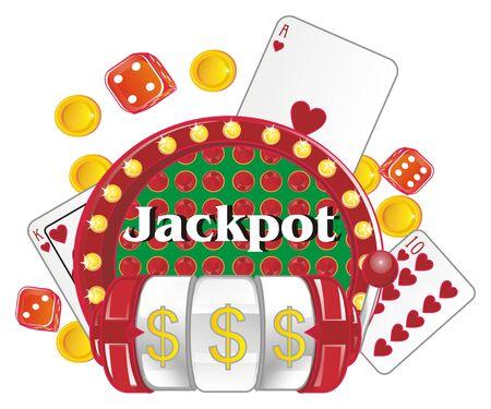 jackpot symbols of win Imagens