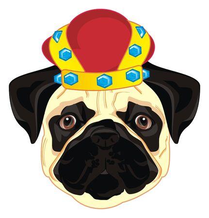 pug in crown